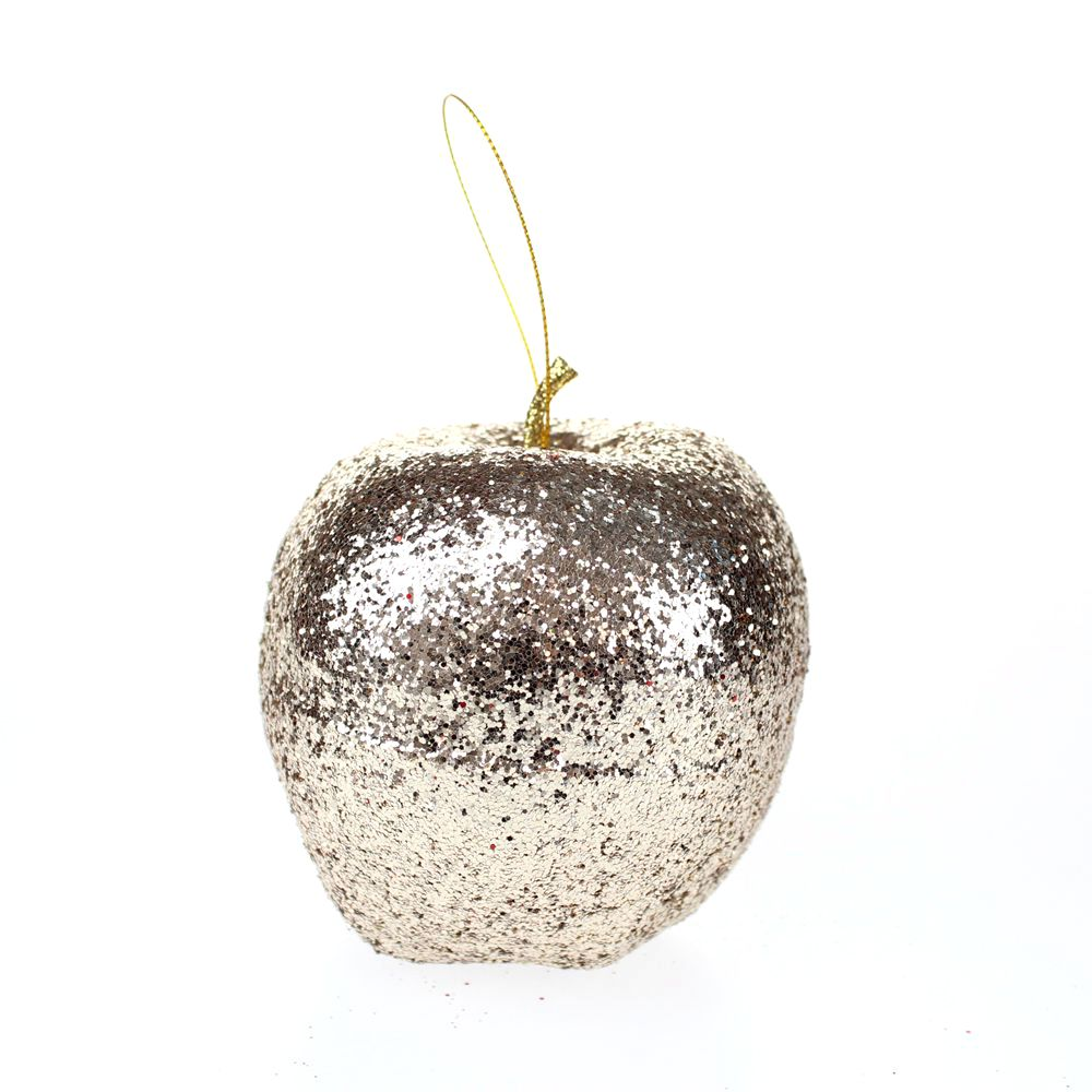 Glitter apple ornaments for Apple tree decoration