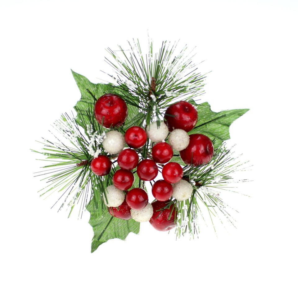 decorative christmas berry picks wholesale 52176 - Decorative Picks For Christmas Trees