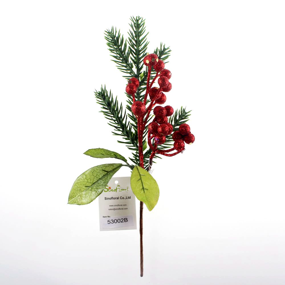 Christmas Berry Tree Hawaii: Glitter Christmas Berry Picks