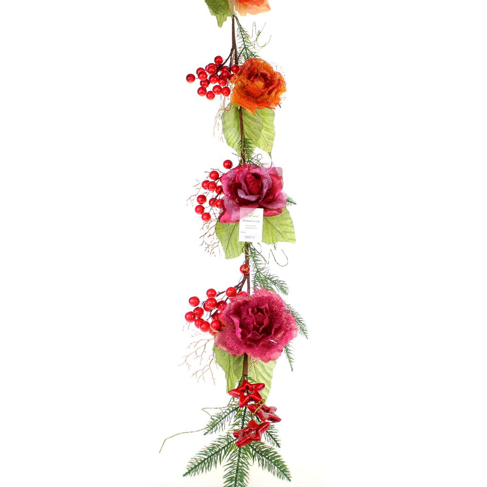 Christmas floral garland wholesale