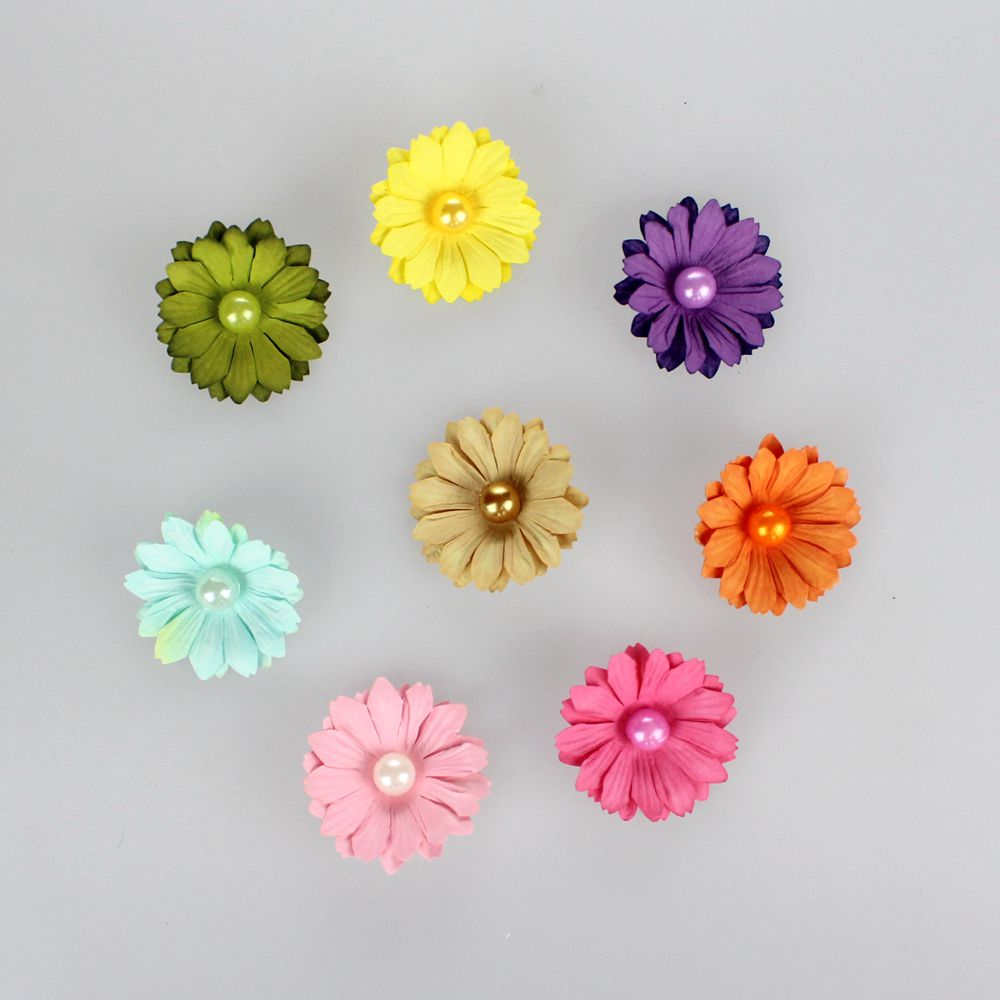 Diy paper flowers colorful mulberry scrapbook paper flowers wholesale 42cm 58104 mightylinksfo