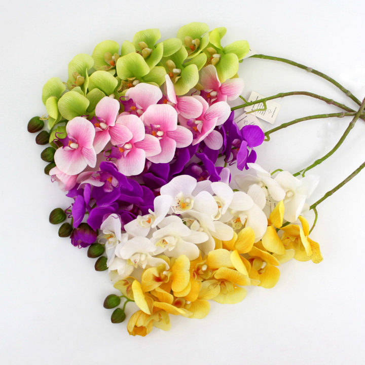 Silk flowers wholesale china pu artificial orchid 60076 mightylinksfo Images