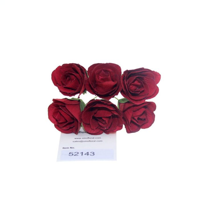 Mulberry paper flowers wholesale artificial crafted mulberry paper flowers roses in red burgundy wholesale 52143 mightylinksfo