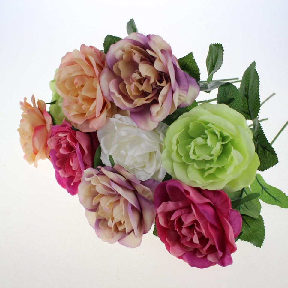 High quality artificial silk flowers wholesale from china high quality artificial silk rose open flowers wholesale 60002 mightylinksfo