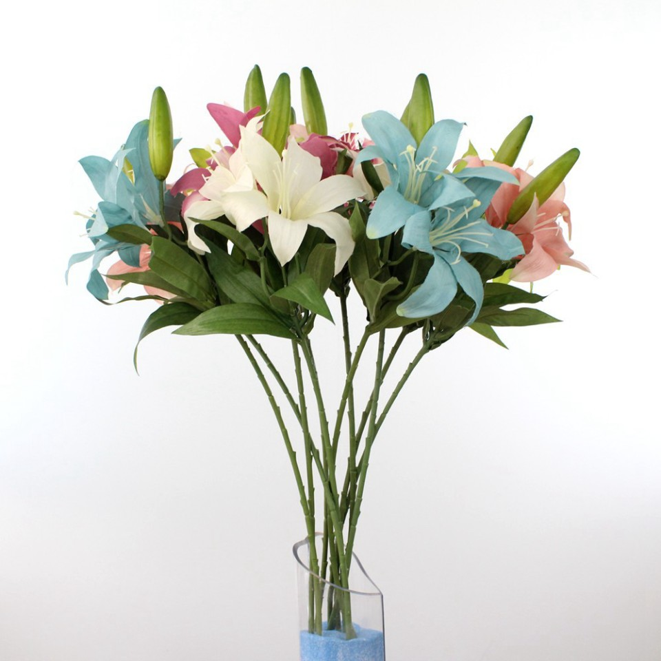 High quality artificial silk flowers wholesale from china artificial silk lily flowers high quality wholesale 60004 izmirmasajfo Image collections