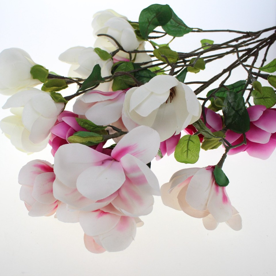 High quality artificial silk flowers wholesale from china lifelike artificial magnolia sprays wholesale 60009 mightylinksfo