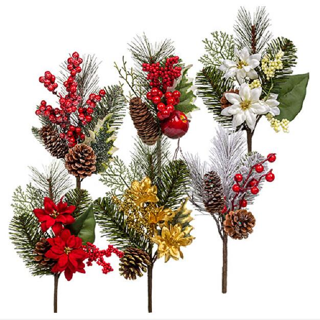 christmas floral picks - Decorative Picks For Christmas Trees